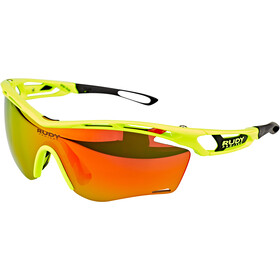 Rudy Project Tralyx Slim Okulary rowerowe, yellow fluo gloss - rp optics multilaser orange